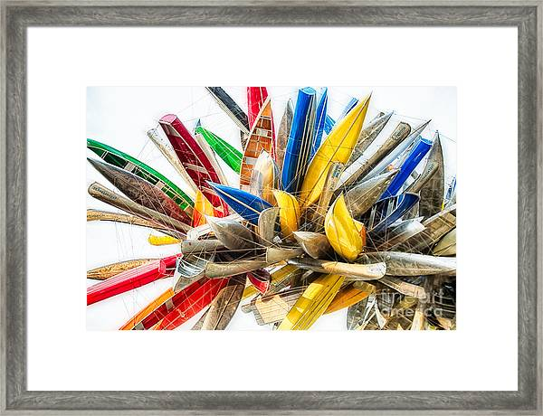 Canoe Art II Framed Print