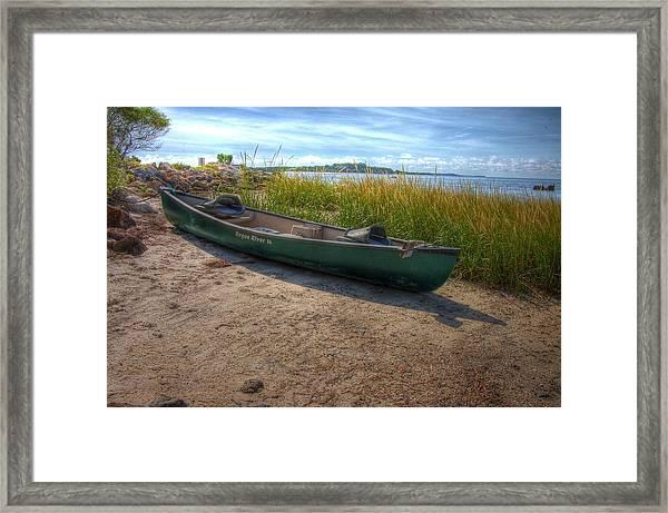 Canoe At Cedar Key Framed Print