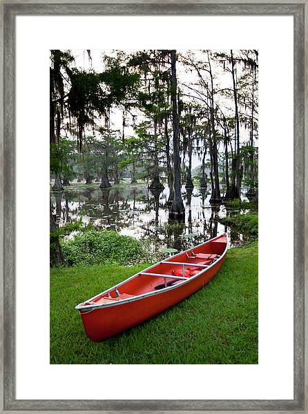 Canoe By Caddo Lake, Texas's Largest Framed Print