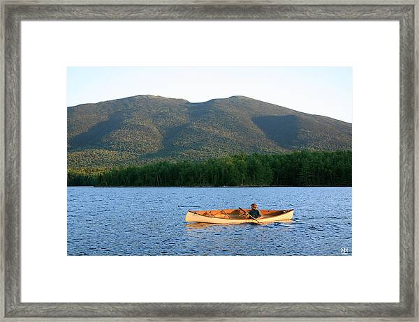 Canoeing Flagstaff Lake Framed Print