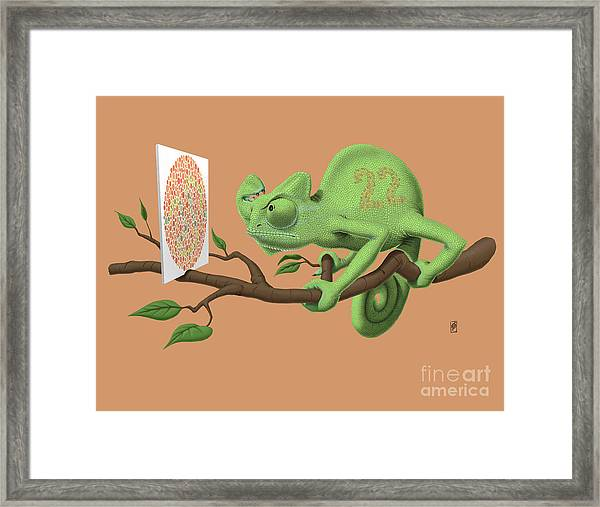 Can't See It Myself Colour Framed Print