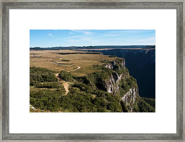 Canyon And Plateau In Brazil Framed Print