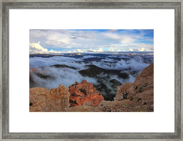 Canyon Clouds Framed Print by Darryl Wilkinson