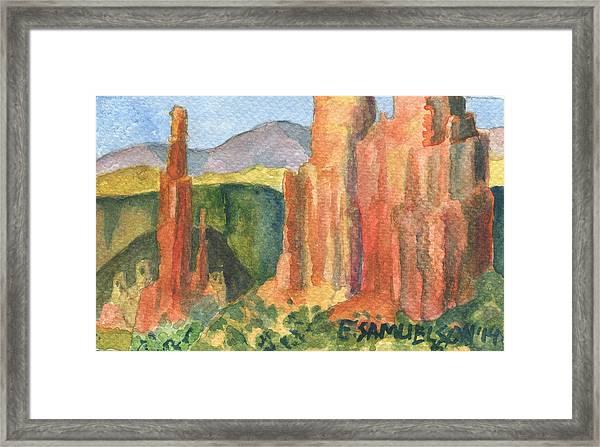 Canyon De Chelly Fantasy Framed Print