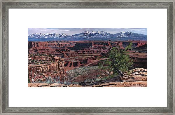 Canyon Lands Framed Print