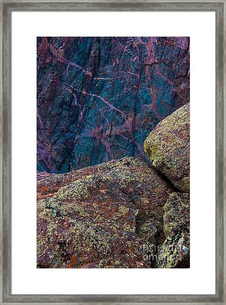 Canyon Rock Abstract Framed Print