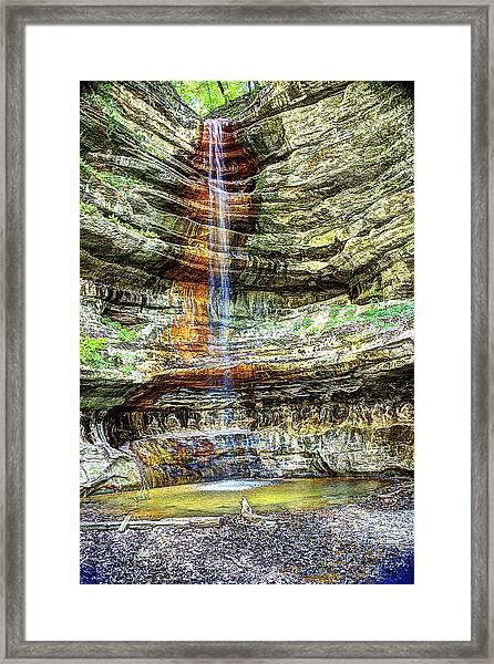 Canyon Starved Rock State Park Framed Print
