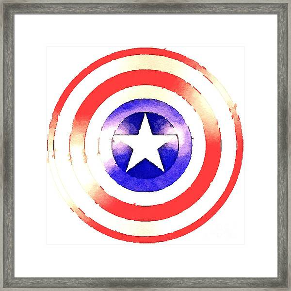 Cap Am Shield Framed Print