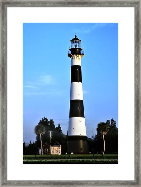 Cape Canaveral Light Framed Print
