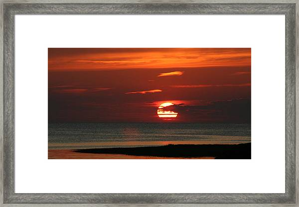 Cape Cod Bay Sunset Framed Print