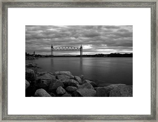 Cape Cod Canal Train Bridge Framed Print