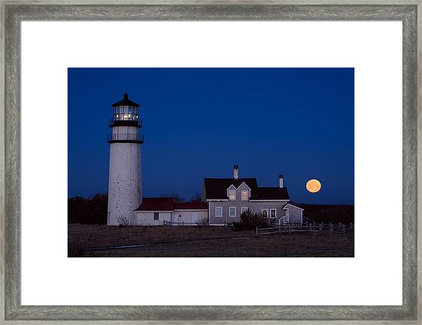 Cape Cod Moonset Framed Print