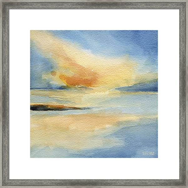 Cape Cod Sunset Seascape Painting Framed Print