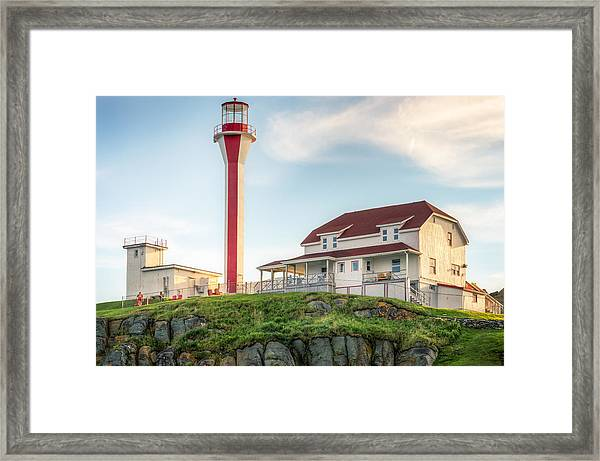 Framed Print featuring the photograph Cape Forchu Lighthouse by Garvin Hunter