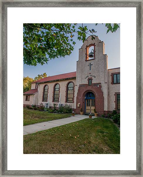 Cape Island Church Framed Print