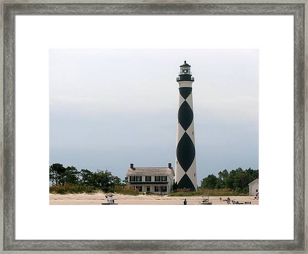 Cape Lookout Lighthouse Framed Print