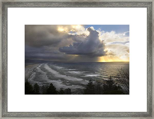 Sunset At Cape Lookout Oregon Coast Framed Print