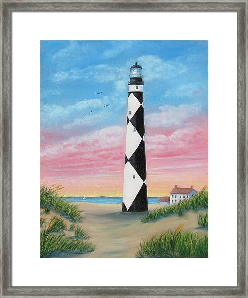 Cape Lookout Sunset Framed Print