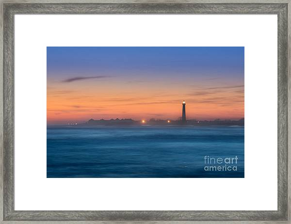 Cape May Lighthouse Sunset Framed Print