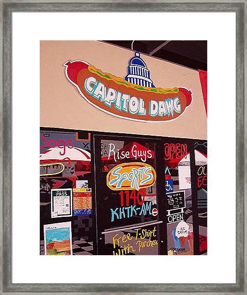 Capitol Dawg Framed Print by Paul Guyer