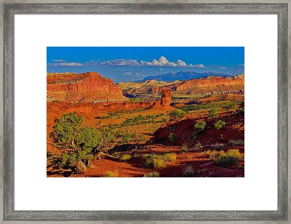 Capitol Reef Landscape Framed Print