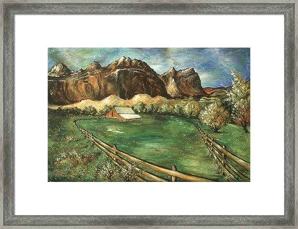 Capitol Reef Utah - Landscape Art Painting Framed Print