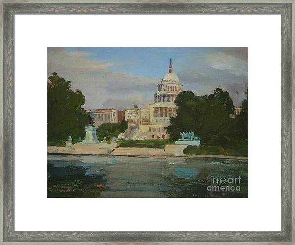 Capitol Reflections Framed Print