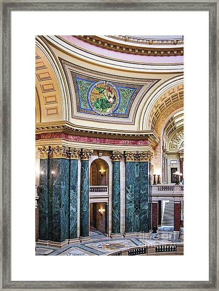 Capitol - Madison - Wisconsin Framed Print