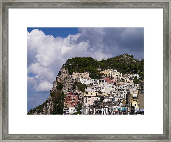 Capri Magic Framed Print