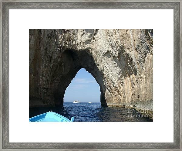 Capri Ocean Cave  Framed Print