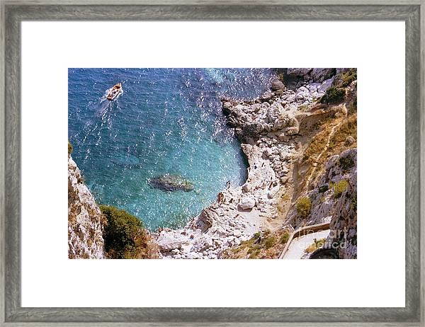Capri Ocean Coast Framed Print