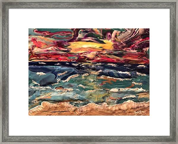 Capricious Sea Framed Print