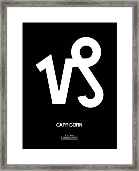 Capricorn Zodiac Sign White Framed Print
