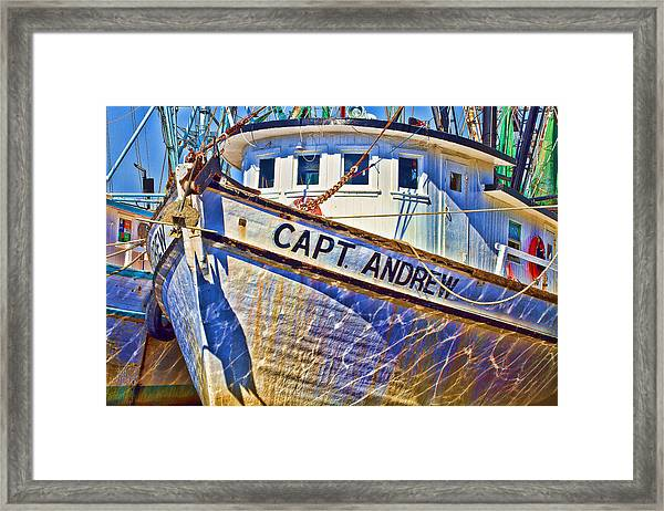 Capt Andrew Shrimper Framed Print