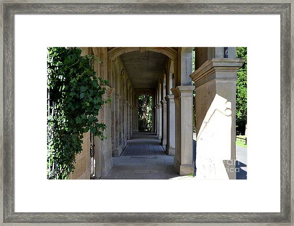 Framed Print featuring the photograph Captain Cook Museum Walkway by Scott Lyons