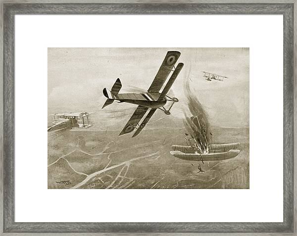 Captain Hawkers Aerial Battle Framed Print