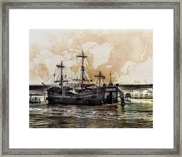 Framed Print featuring the digital art Captain Hook Cancun by William Havle