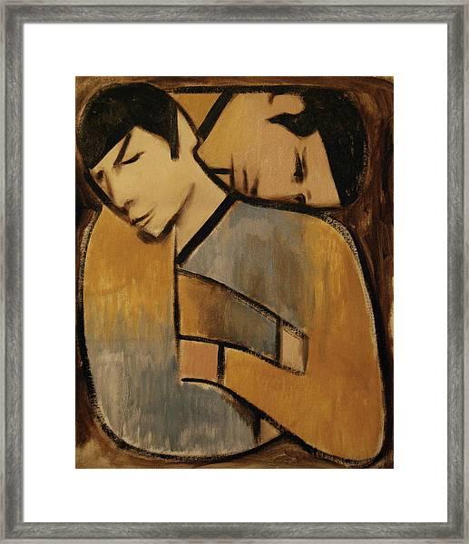 Captain Kirk Spock Cubism Framed Print