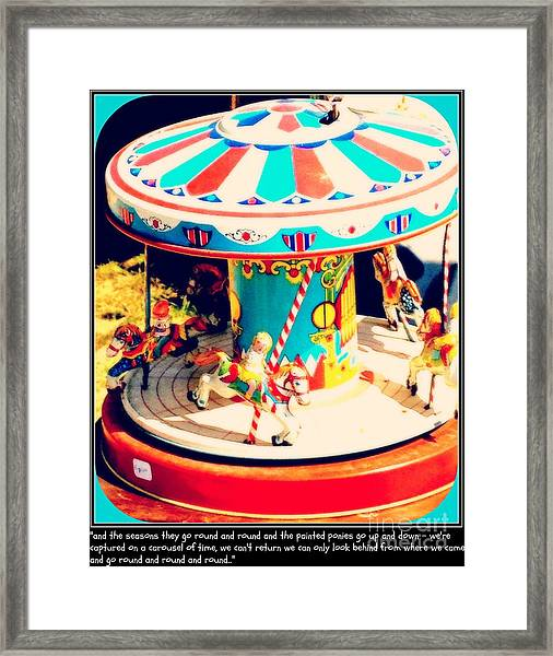 Captured On The Carousel Of Time Framed Print