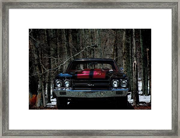 Car Art Chevy Chevelle Ss Hdr Framed Print