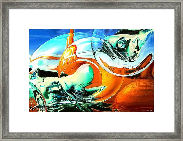 Car Fandango - Modern Art Framed Print