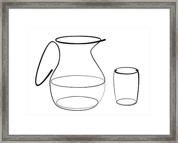 Carafe Glass Line Framed Print
