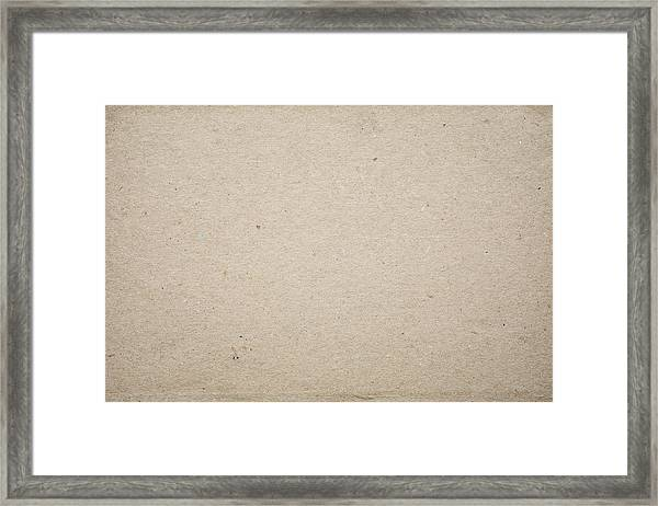 Cardboard Texture Background Framed Print by Katsumi Murouchi