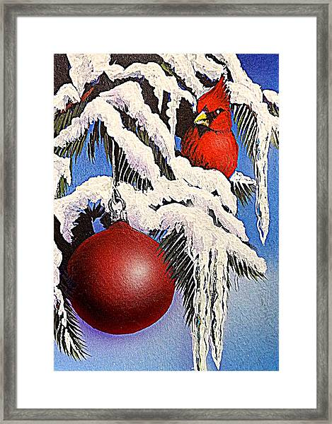 Cardinal One Ball Framed Print