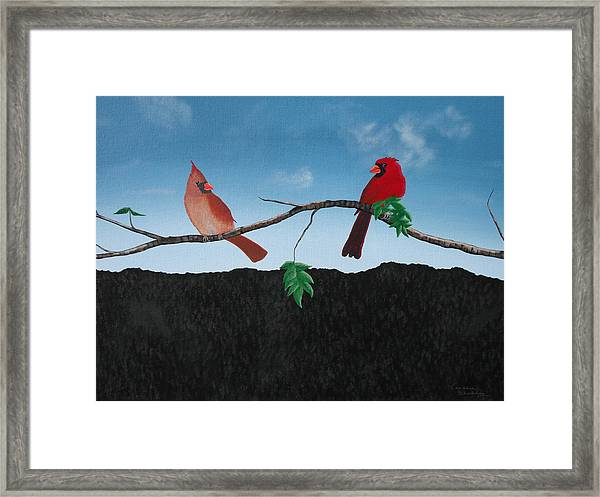 Cardinals No. 2 Framed Print by Candace Shockley