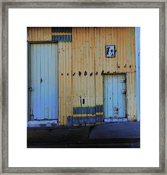 Framed Print featuring the photograph Cargo Shed  by Debbie Cundy