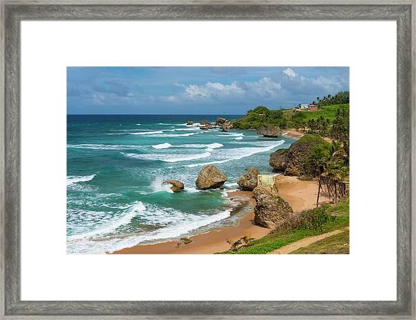 Caribbean, Barbados, Bathsheba Framed Print