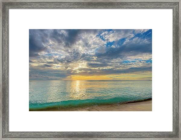Caribbean, Barbados, Mullins Beach Framed Print