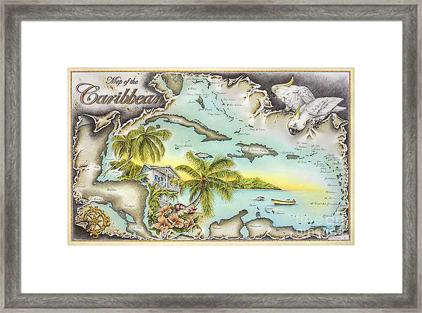 Caribbean Castaway Framed Print by Mike Williams