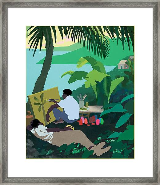 Caribbean Painter Framed Print